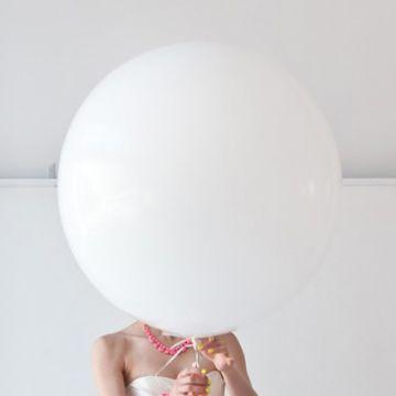 Maxi Ballon Blanc (1mètre)