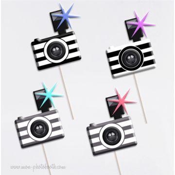 Kit de 4 appareils photo Retro accessoires Photobooth