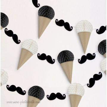 Guirlande Moustaches Et Glaces Guirlande Décoration