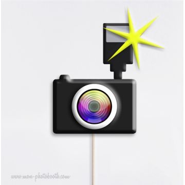 Appareil Photos Noir Intense Photobooth Accessoire
