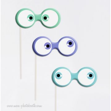 "Lot de 3 ""Googly Eyes"" Photobooth Accessoires"