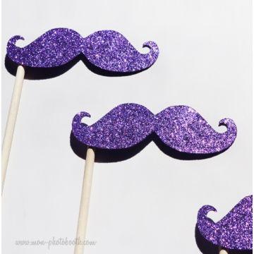 Lot de 3 Moustaches Paillettes Garçons Photobooth Accessoires