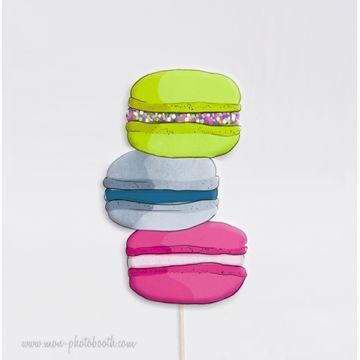 Trio de macarons Photobooth Accessoires