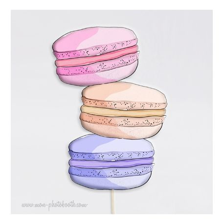 3 MAXI Macarons Photobooth Accessoires