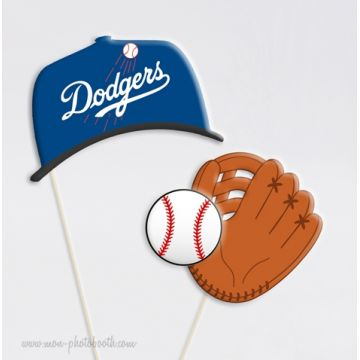 Dodgers Baseball Team Photobooth Accessoires