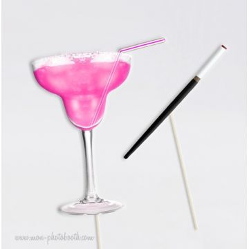 Pink Margarita Party Girls Photobooth Accessoires