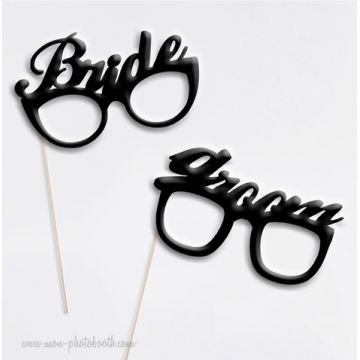 Bride & Groom Chic Wedding Photobooth Accessoires