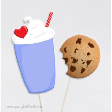 Milkshake et Cookie Photobooth Accessoires