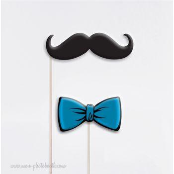 noeud papillon et moustache photobooth accessoires