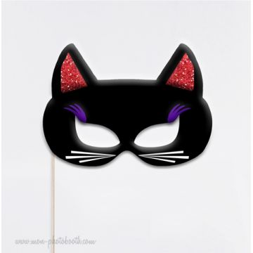 Chat Masque Chic Photobooth Accessoire