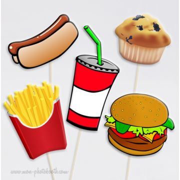 Fast Food Party Photobooth Accessoires