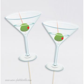 Martini Party Photobooth Accessoires