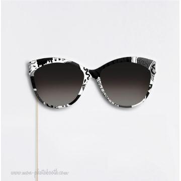 Lunettes Graphiques Noir et Blanc Photobooth Accessoire