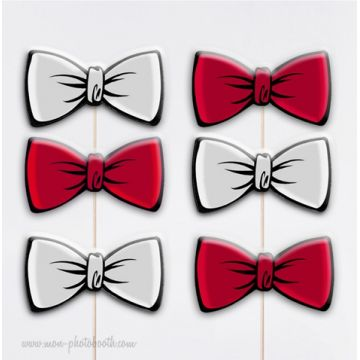 6 Noeuds Papillons Duo Chic Photobooth Accessoires