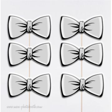 6 Noeuds Papillons Chic Photobooth Accessoires