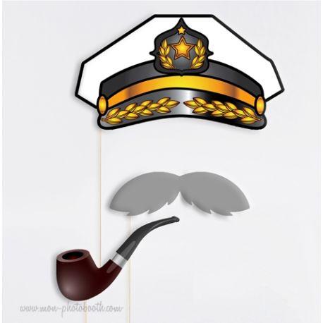 Capitaine de Bateau Photobooth Accessoires