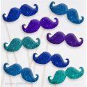 Lot de 8 Moustaches Dandy Paillettes Photobooth