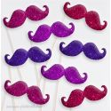 Lot de 8 Moustaches Paillettes 2 Photobooth