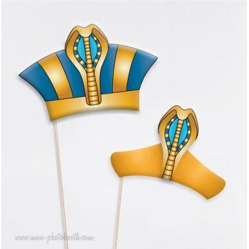 Pharaon et Cléopatre - Taille Enfant - Photobooth Accessoires