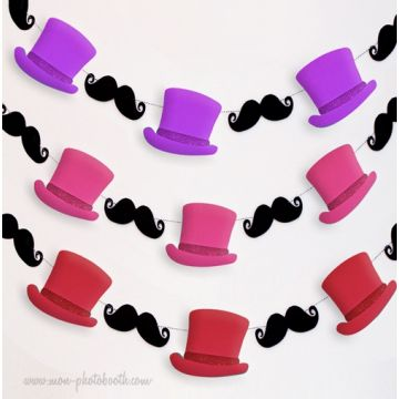 Guirlande Moustaches Dandy Party Girl Guirlande Décoration