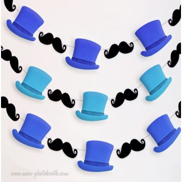 Guirlande Moustaches Dandy Party Boy Guirlande Décoration