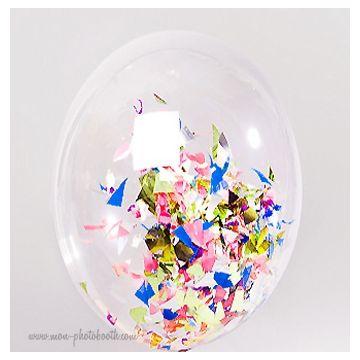 Ballon Transparent Cristal et Confettis 2