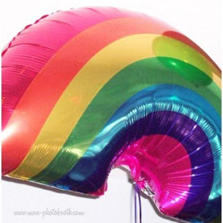 Maxi Ballon Arc en Ciel Mylar