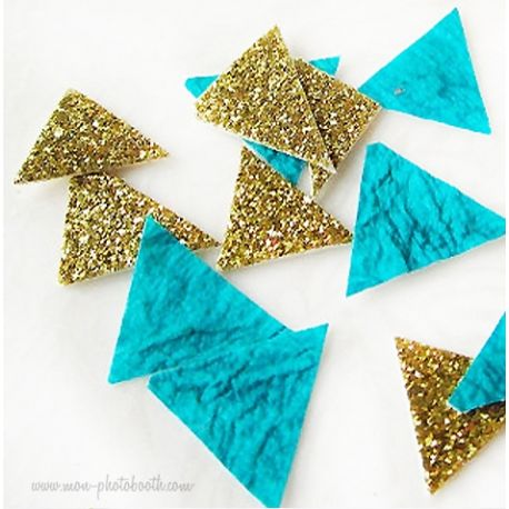 Confettis de Table Triangles Design Paillettes (80 pièces)