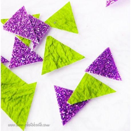 Confettis de Table Triangles Design Paillettes (80 pièces)