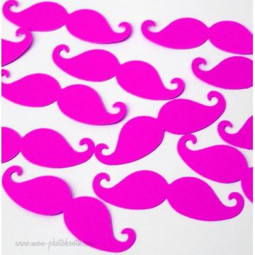 Confettis de Table Moustaches Neon Girl (50 pièces)