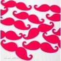 Confettis de Table Moustaches Neon Girl (50 pièces)