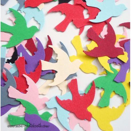 Confettis de Table Oiseaux Multicolore 2 (100 pièces)