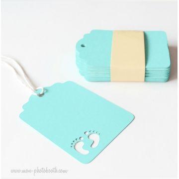 Etiquettes Décoration Cadeau Baby Shower Bébé Garçon (20 pièces)