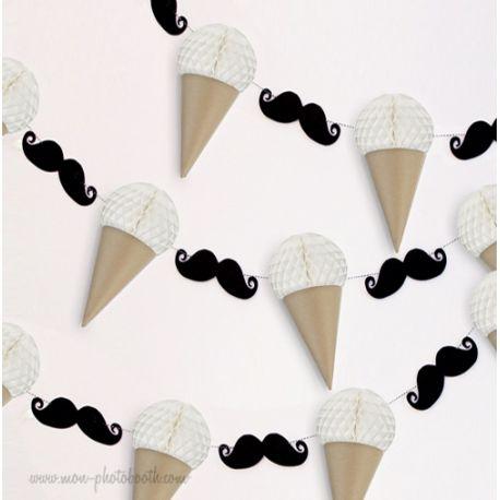 Guirlande Chic Moustaches Et Glaces Guirlande Décoration