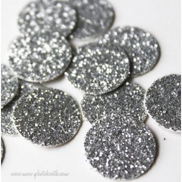 Party Confettis Tout en Paillettes Argent (80 pièces)