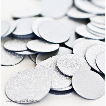 Party Confettis Tout en Paillettes Blanc (80 pièces)