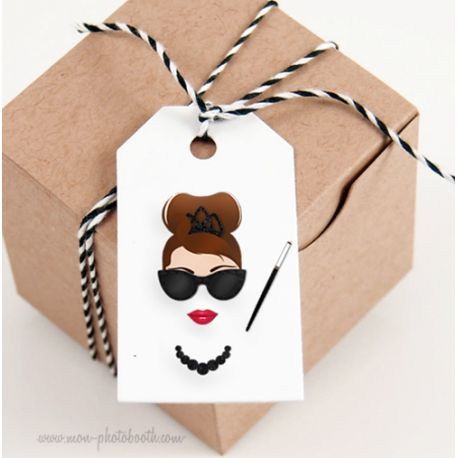 Etiquettes Décoration Audrey Hepburn (12 pièces)