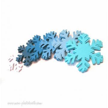 Confettis de Table Flocons de Neige Dégradé de Bleu (70 pièces)