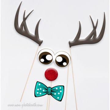 Renne du Père Noel Accessoires Photobooth