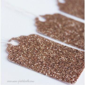 Etiquettes Décoration Paillettes Bronze (20 pièces)