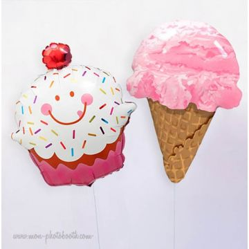 Maxis Ballons Cupcake et Glace