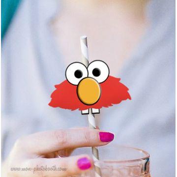 10 Pailles Rétro et Déco Elmo 2