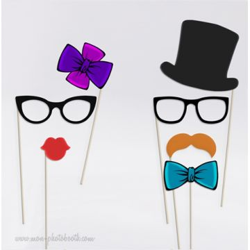Lady and Gentleman Party - Taille Enfant - Photobooth Accessoires
