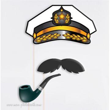 Capitaine de Bateau - Taille Enfant - Photobooth Accessoires