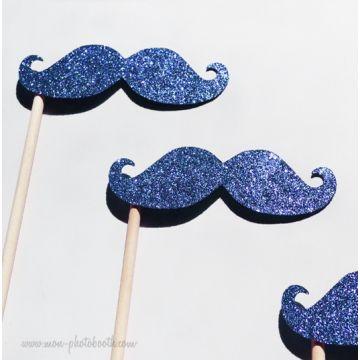 Lot de 3 Moustaches paillettes 2 - Taille Enfant-- Photobooth Accessoires