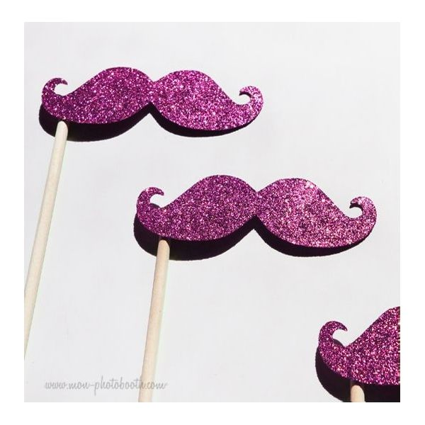 Lot de 3 Moustaches paillettes ,.