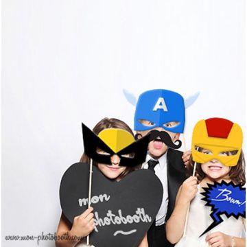 Super Héros - Taille Enfant - Photobooth Accessoire 6