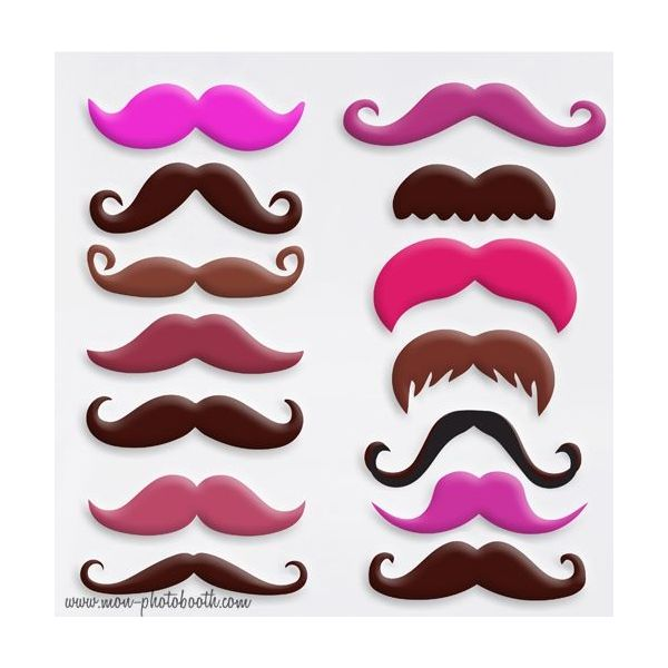 lot de 14 moustaches couleurs photobooth accessoires. Black Bedroom Furniture Sets. Home Design Ideas