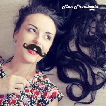 Lot de 14 Moustaches Mariage Chic Photobooth Accessoires