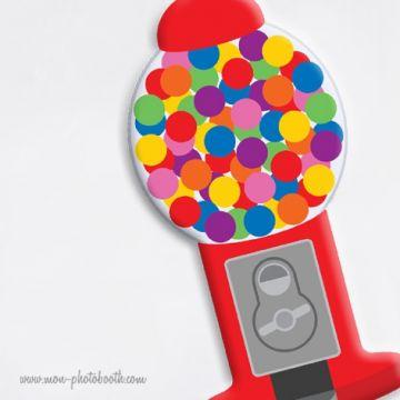 BubbleGum et Pop corn Photobooth Accessoires